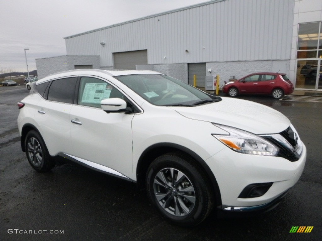2017 pearl white nissan murano sl awd 118032702. Black Bedroom Furniture Sets. Home Design Ideas