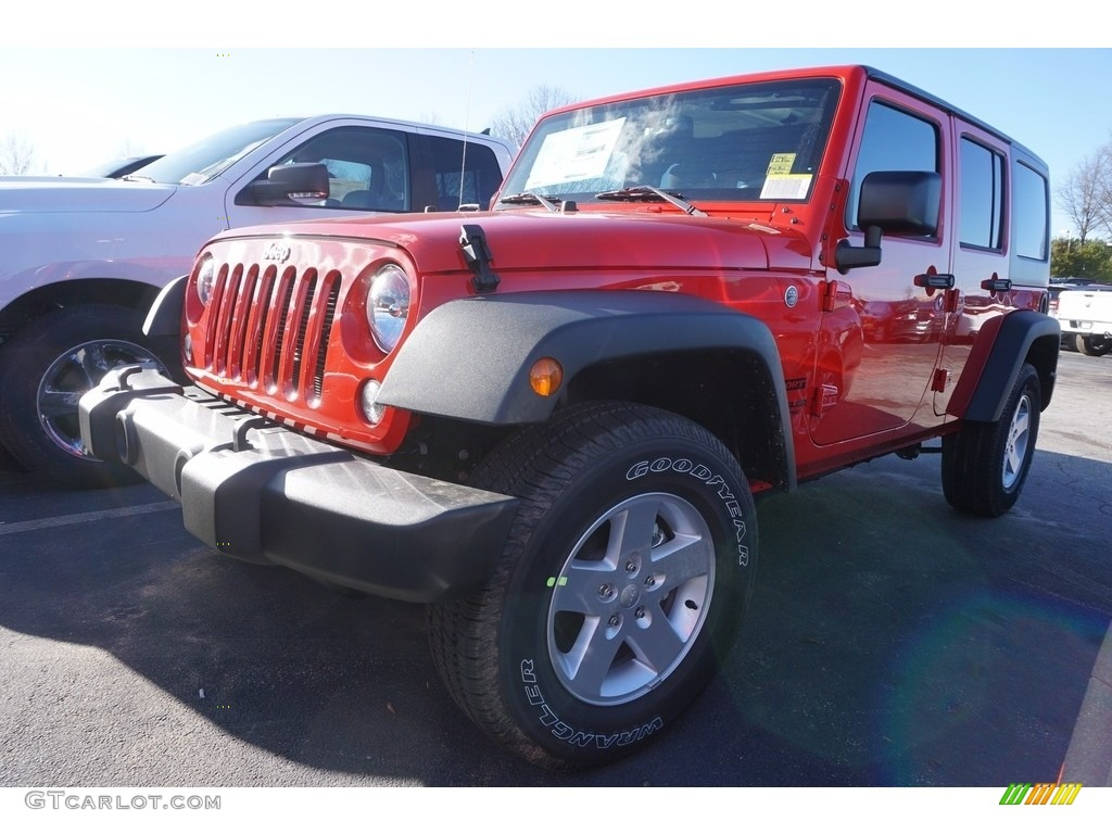2017 firecracker red jeep wrangler unlimited sport 4x4. Black Bedroom Furniture Sets. Home Design Ideas
