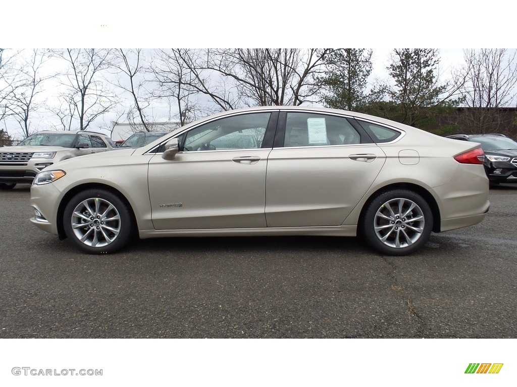 2017 Fusion Hybrid Se White Gold Medium Light Stone Photo 1