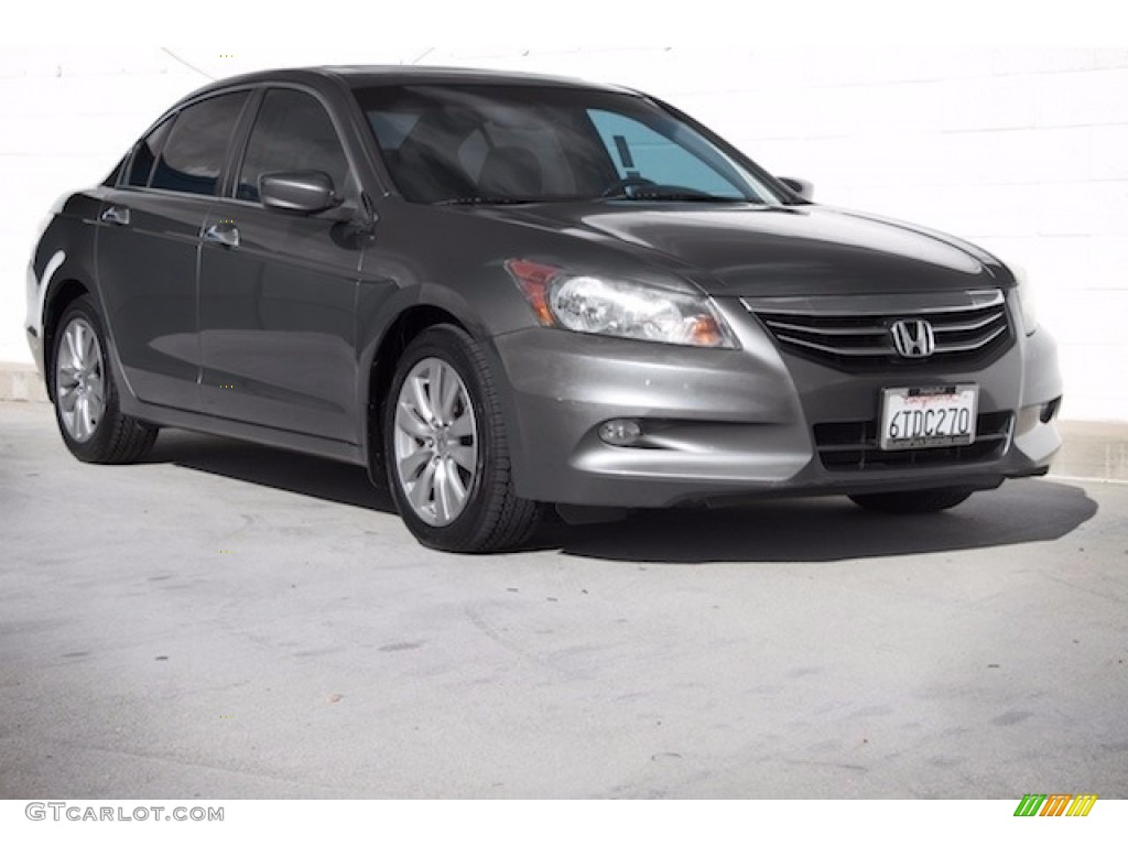 2011 Polished Metal Metallic Honda Accord Ex L V6 Sedan