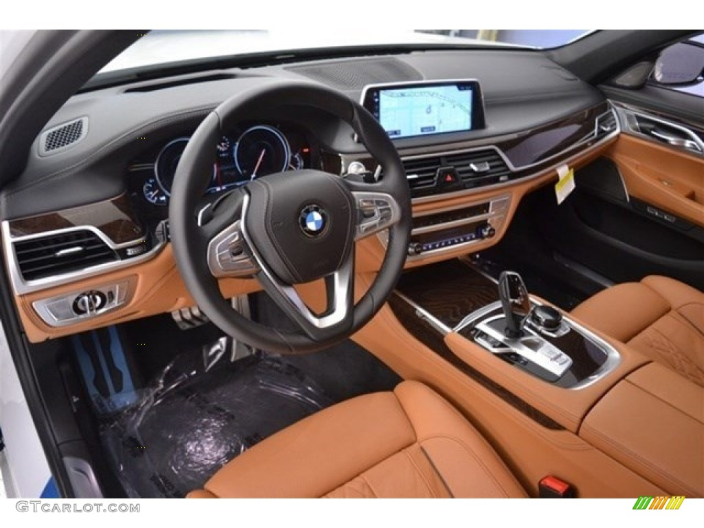 Cognac Interior 2017 BMW 7 Series 740i Sedan Photo 118089585
