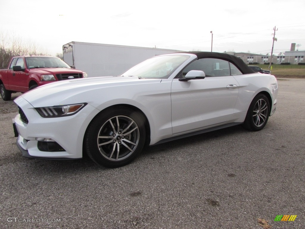 2015 Mustang EcoBoost Premium Convertible - Oxford White / Ebony photo #1