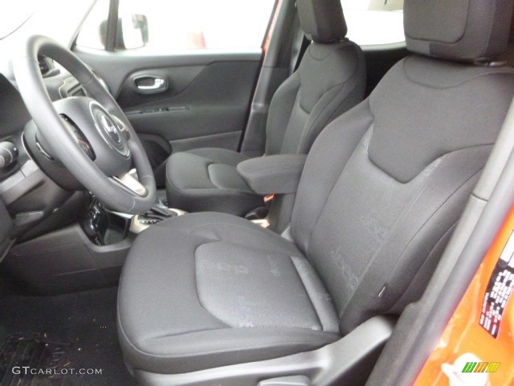 Black Interior 2017 Jeep Renegade Sport 4x4 Photo #118142946