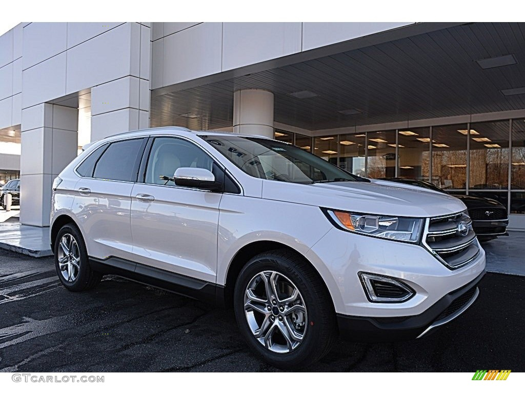White Platinum Metallic Ford Edge