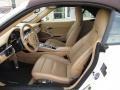 Sand Beige Front Seat Photo for 2012 Porsche 911 #118257393