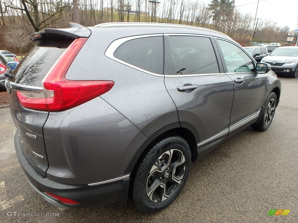 2017 modern steel metallic honda cr v touring awd for Gray honda crv