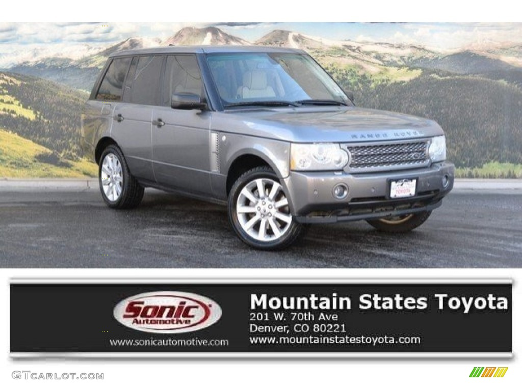 2007 Range Rover Supercharged - Zermatt Silver Metallic / Sand Beige photo #1