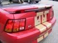 2001 Laser Red Metallic Ford Mustang Cobra Convertible  photo #26