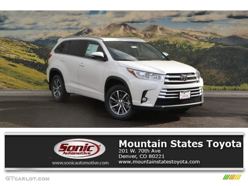 2017 blizzard white pearl toyota highlander xle awd 118277649 photo 7 car. Black Bedroom Furniture Sets. Home Design Ideas