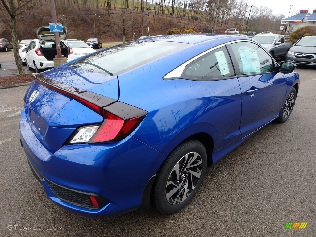 2017 aegean blue metallic honda civic lx coupe 118277813. Black Bedroom Furniture Sets. Home Design Ideas