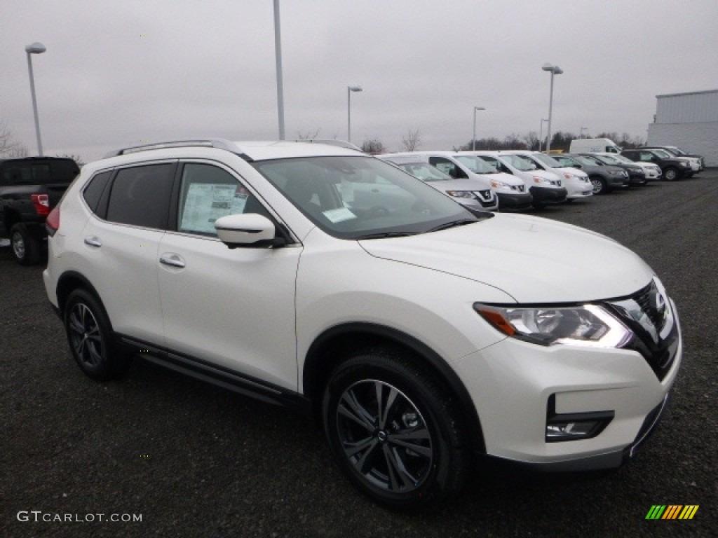 Pearl White 2017 Nissan Rogue Sl Awd Exterior Photo 118298478