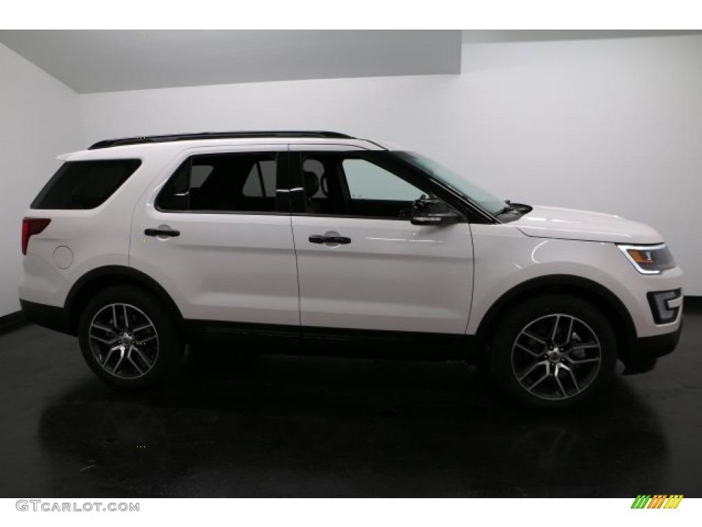 2017 white platinum ford explorer sport 4wd 118277538 car color galleries. Black Bedroom Furniture Sets. Home Design Ideas