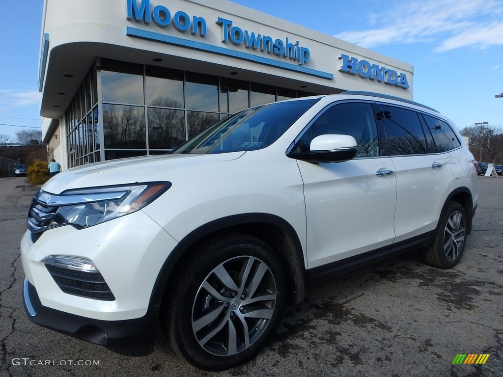 2017 white diamond pearl honda pilot touring awd 118310013 car color galleries. Black Bedroom Furniture Sets. Home Design Ideas