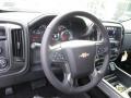 Jet Black Steering Wheel Photo for 2017 Chevrolet Silverado 1500 #118329347
