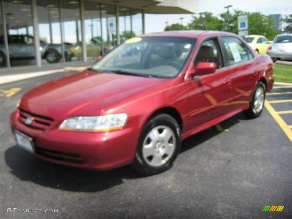 2001 Honda Accord EX V6 Sedan - Firepepper Red Pearl Color / Ivory ...