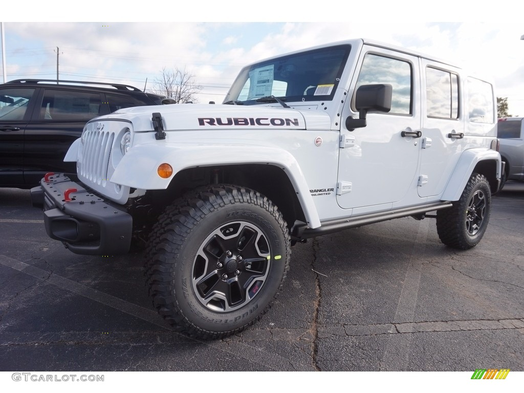 2017 bright white jeep wrangler unlimited rubicon hard rock 4x4 118361699 car. Black Bedroom Furniture Sets. Home Design Ideas