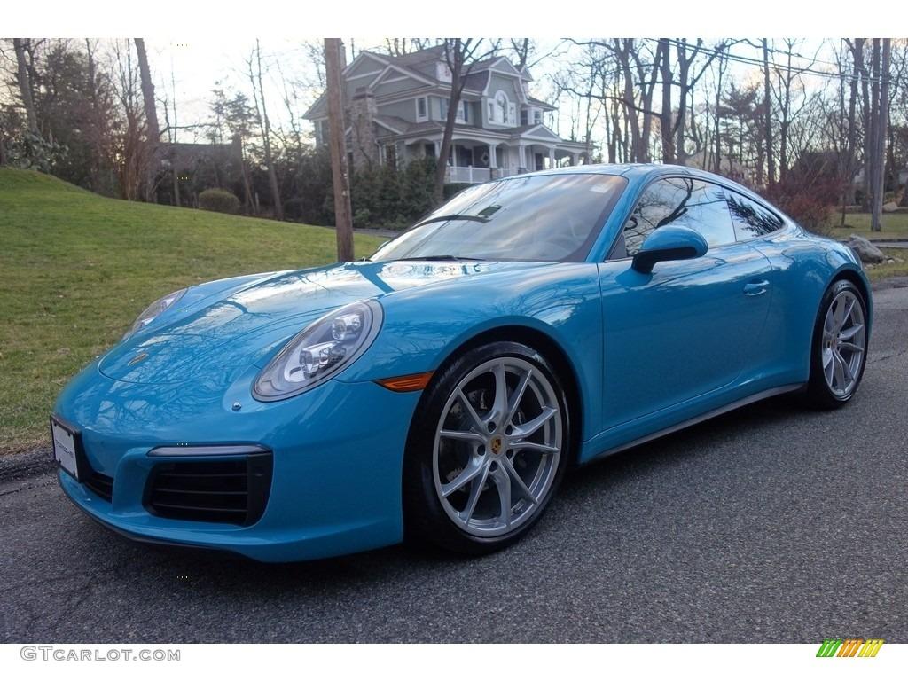 2017 Miami Blue Porsche 911 Carrera 4 Coupe 118385768