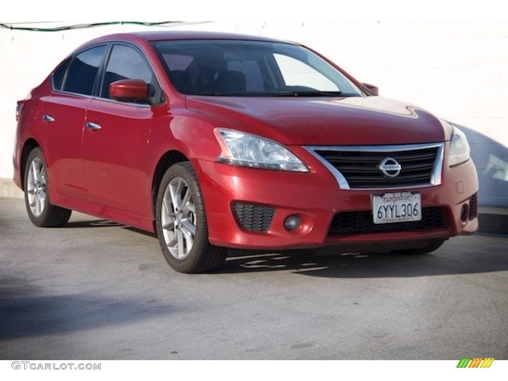 2013 Red Brick Nissan Sentra Sr 118410633 Photo 5