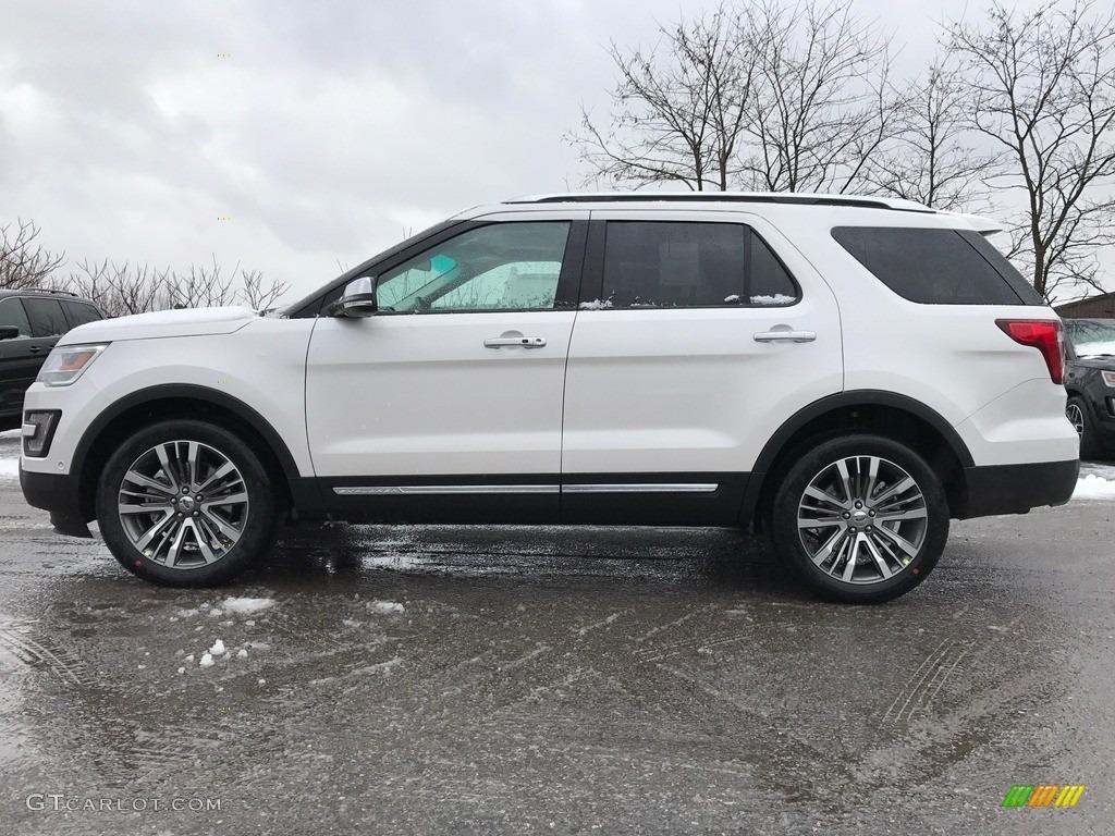 White Platinum Ford Explorer
