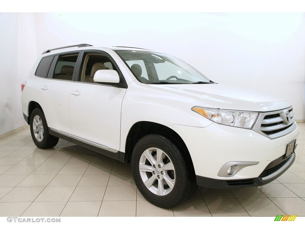 2012 blizzard white pearl toyota highlander se 4wd 118410809 car color galleries. Black Bedroom Furniture Sets. Home Design Ideas
