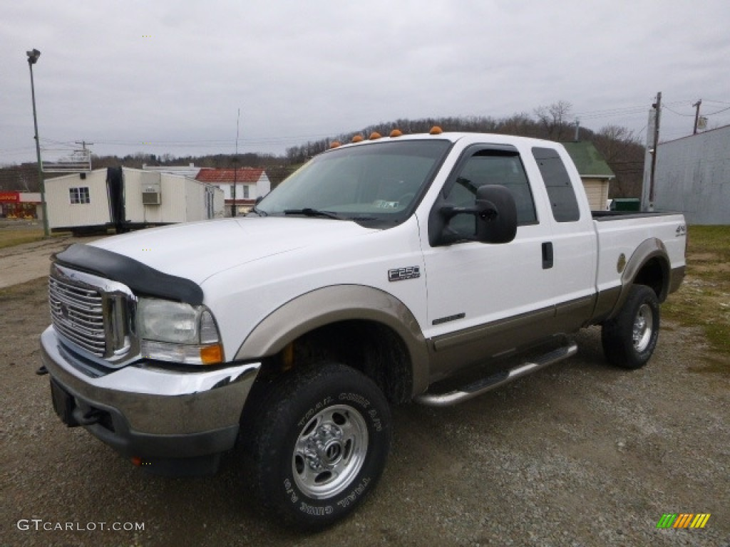 2002 f250 super duty lariat supercab 4x4 oxford white medium flint photo 1