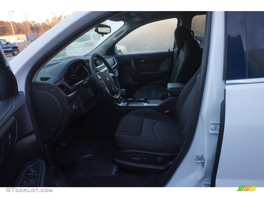 2017 summit white chevrolet traverse lt 118410757 photo 9 car color galleries for Chevy traverse interior colors