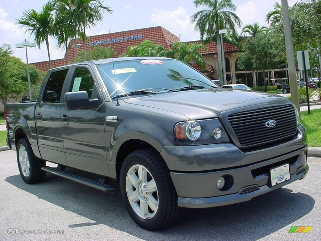 2007 dark shadow grey metallic ford f150 fx2 sport supercrew 11803334 car. Black Bedroom Furniture Sets. Home Design Ideas