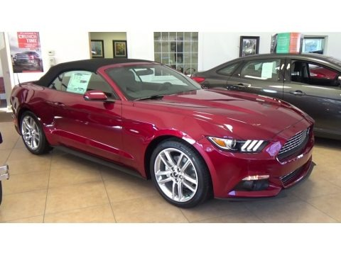 2017 Ford Mustang EcoBoost Premium Convertible Data, Info and Specs