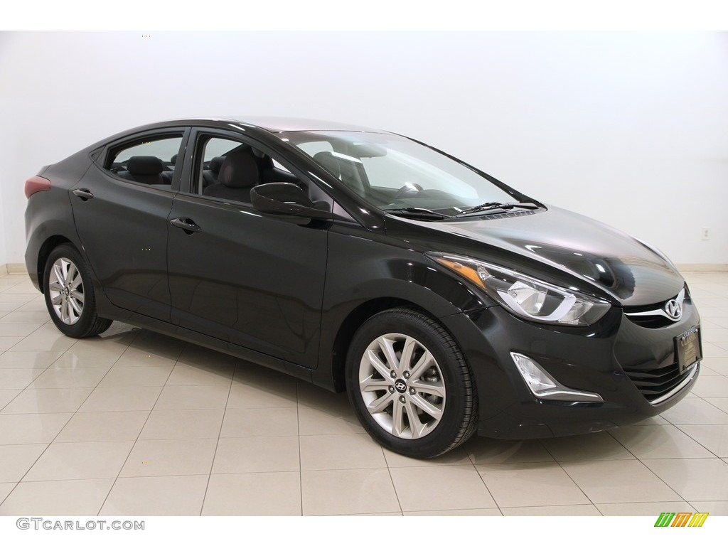 2015 black diamond hyundai elantra limited sedan. Black Bedroom Furniture Sets. Home Design Ideas