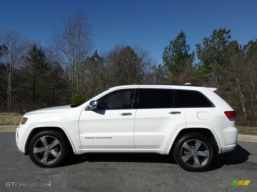 2014 bright white jeep grand cherokee overland 4x4. Black Bedroom Furniture Sets. Home Design Ideas