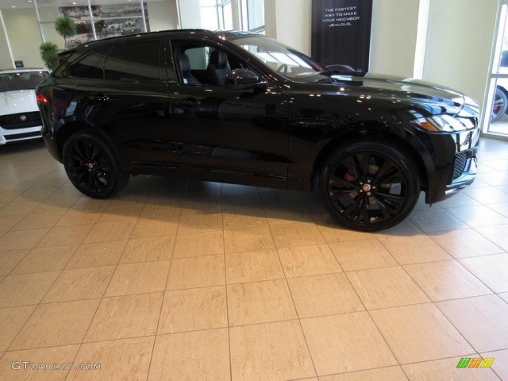 2017 Jaguar F Pace 20D Premium >> 2017 Ebony Black Jaguar F-PACE 35t AWD S #118575621   GTCarLot.com - Car Color Galleries