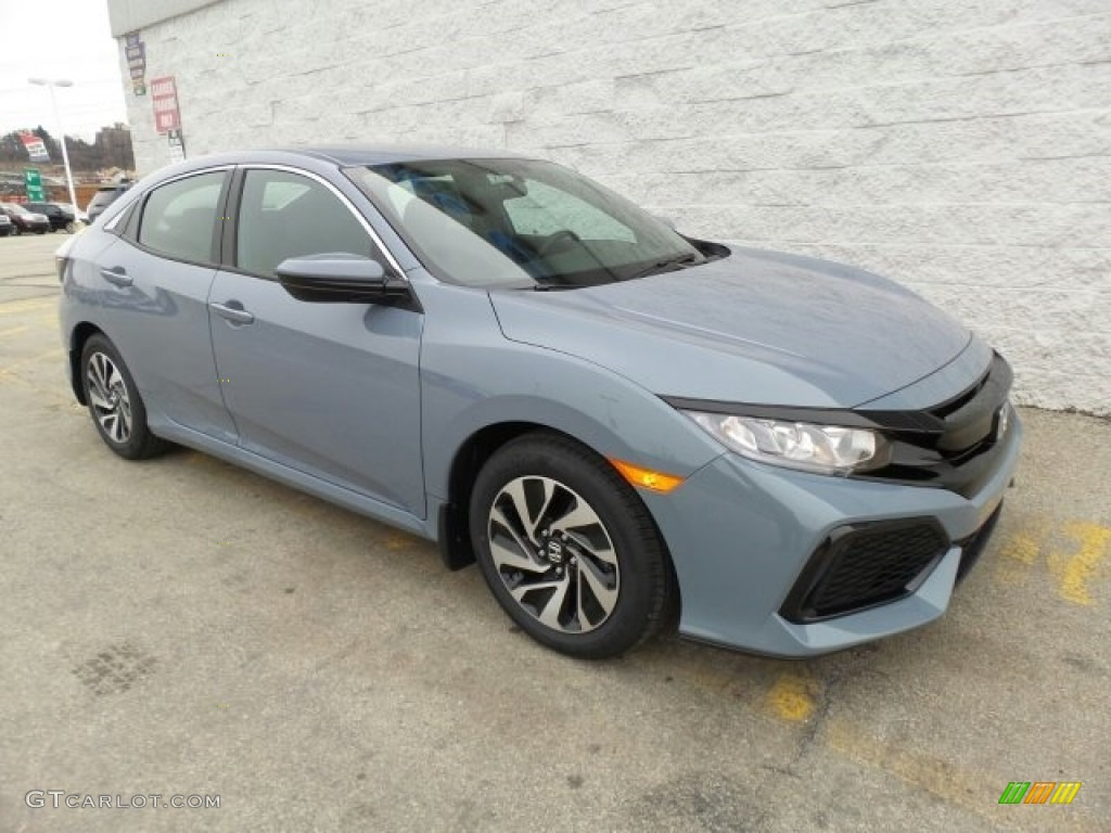 2017 sonic gray pearl honda civic lx hatchback 118602351