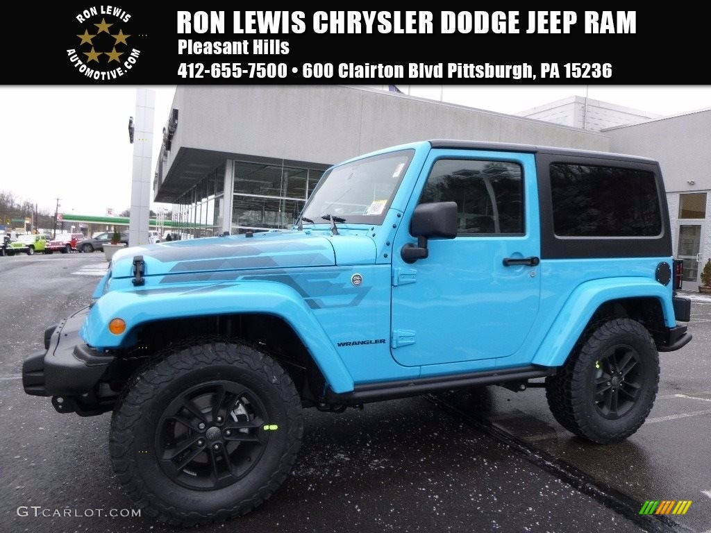 Chief Blue Jeep Wrangler Winter Edition 4x4