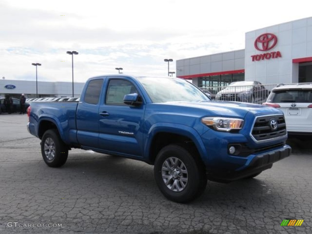 2017 Blazing Blue Pearl Toyota Tacoma Sr5 Access Cab 4x4 118732141