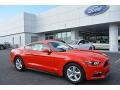 Race Red 2017 Ford Mustang V6 Coupe Exterior