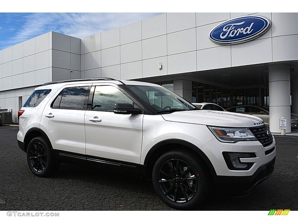 2017 White Platinum Ford Explorer Xlt 4wd 118732133