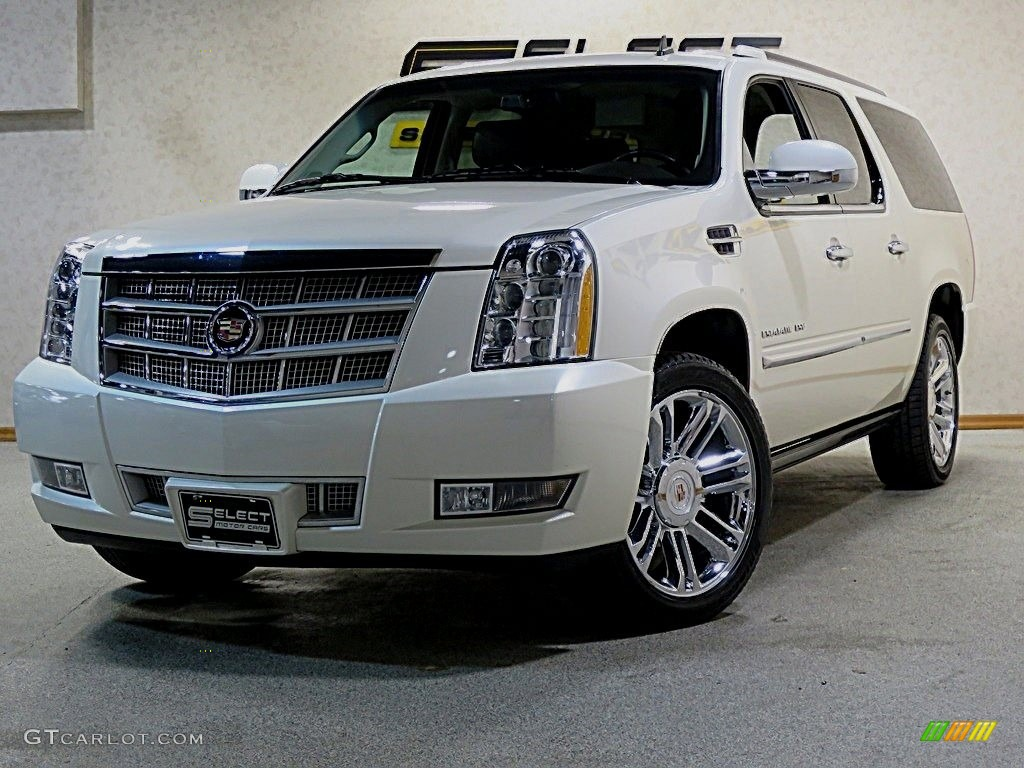2011 white diamond tricoat cadillac escalade esv platinum. Black Bedroom Furniture Sets. Home Design Ideas
