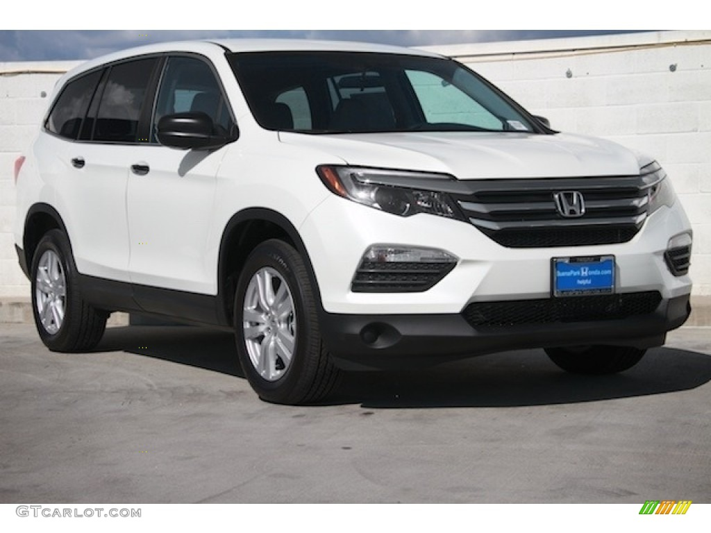 2017 white diamond pearl honda pilot lx 118804093 car color galleries. Black Bedroom Furniture Sets. Home Design Ideas
