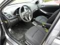 2017 Accent SE Hatchback Black Interior