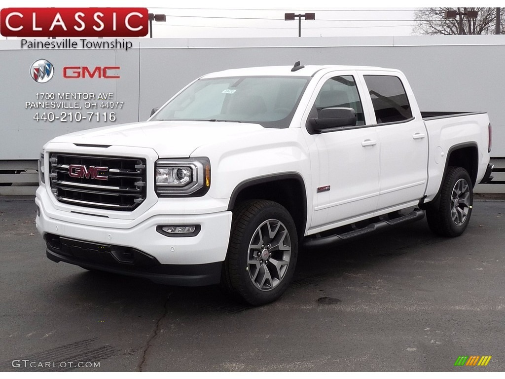 2017 summit white gmc sierra 1500 slt crew cab 4wd 118851384 car color galleries. Black Bedroom Furniture Sets. Home Design Ideas