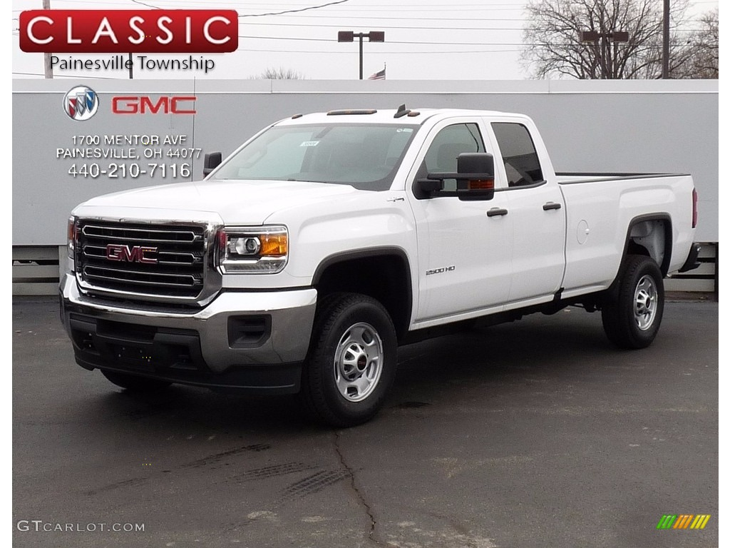 2017 summit white gmc sierra 2500hd double cab 4x4 118851394 car color galleries. Black Bedroom Furniture Sets. Home Design Ideas