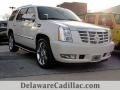 White Diamond Tricoat 2014 Cadillac Escalade Luxury AWD