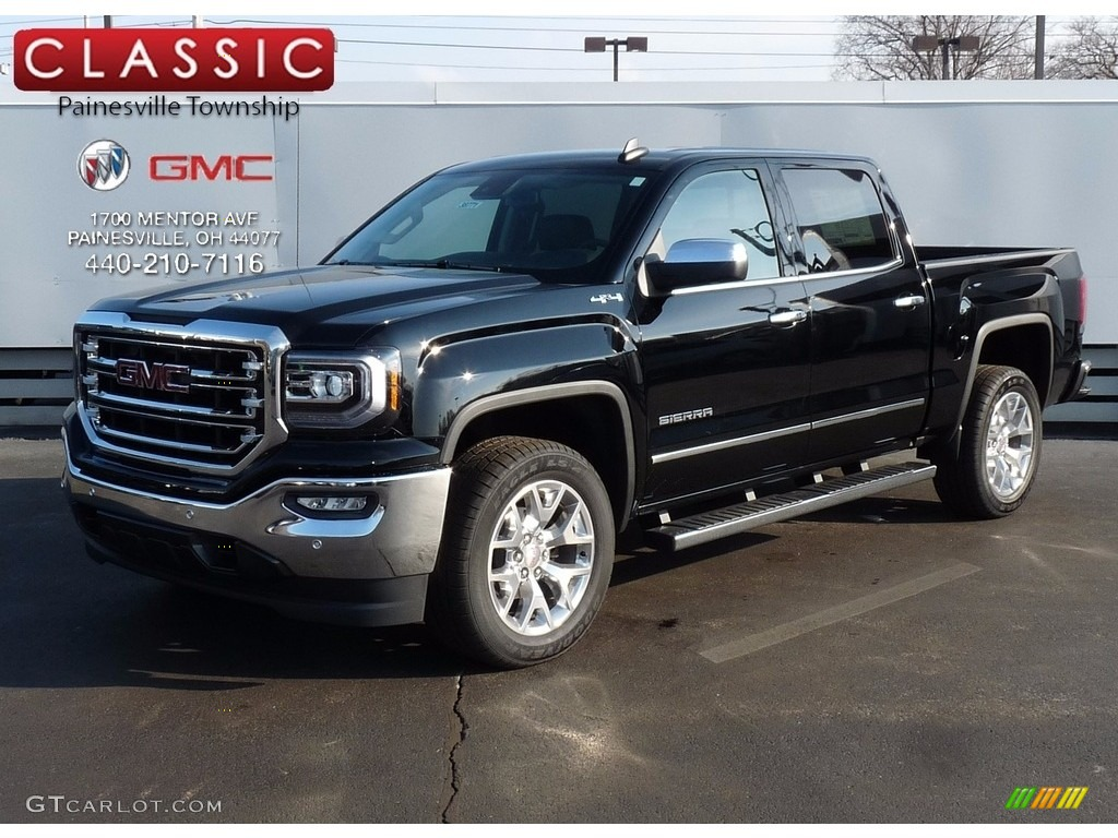 2017 onyx black gmc sierra 1500 slt crew cab 4wd 118872582 car color galleries. Black Bedroom Furniture Sets. Home Design Ideas