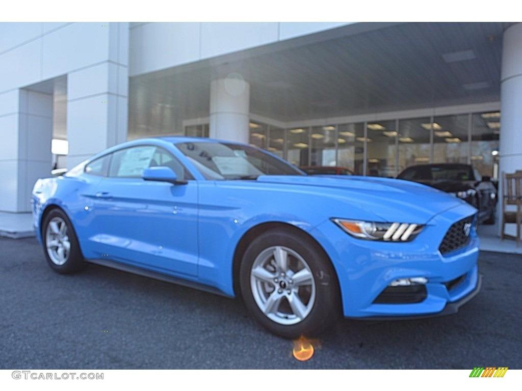 2017 Mustang V6 Coupe - Grabber Blue / Ebony photo #1