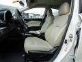 2017 Subaru Impreza Ivory Interior Front Seat Photo
