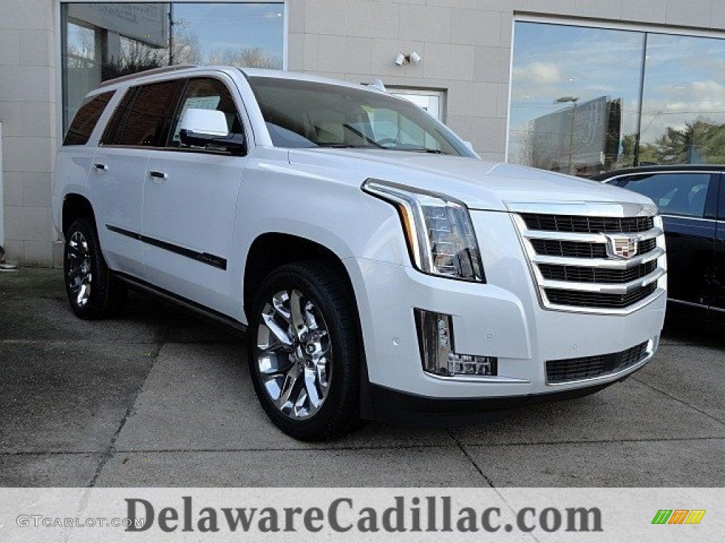 2017 Escalade Premium Luxury 4wd Crystal White Tricoat Shale Cocoa Accents Photo