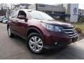 2014 Basque Red Pearl II Honda CR-V EX AWD  photo #1
