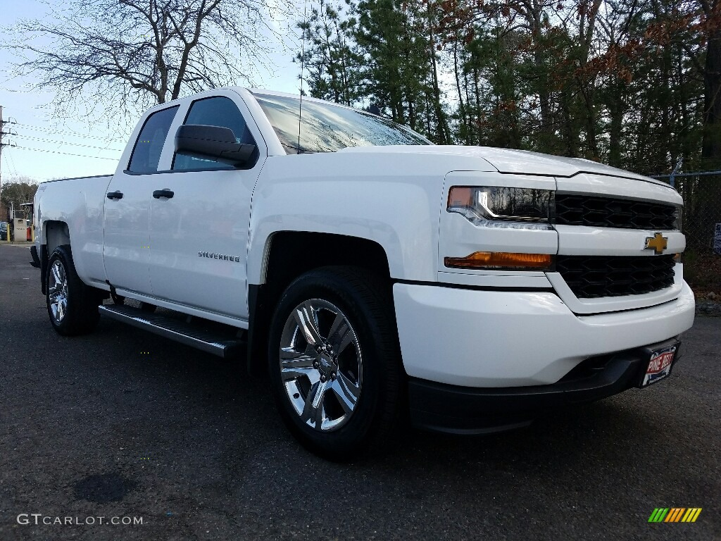 2017 summit white chevrolet silverado 1500 custom double cab 4x4 118963992 car. Black Bedroom Furniture Sets. Home Design Ideas