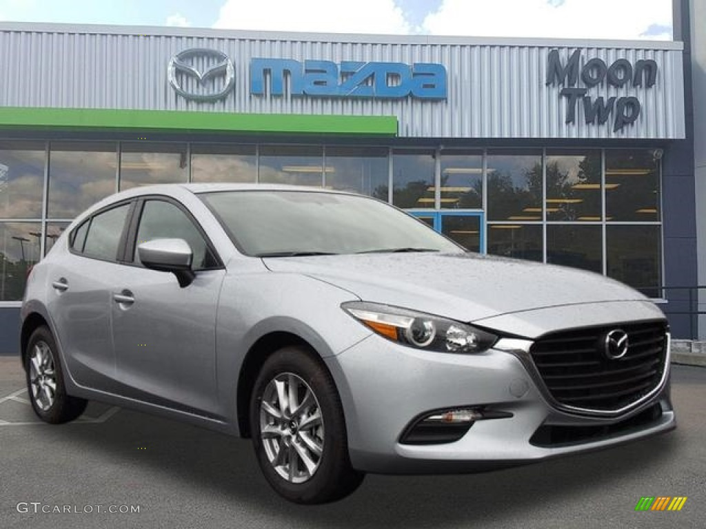 2017 sonic silver metallic mazda mazda3 sport 5 door 118989460 car color galleries. Black Bedroom Furniture Sets. Home Design Ideas