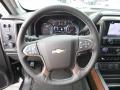 Jet Black Steering Wheel Photo for 2017 Chevrolet Silverado 2500HD #118993968
